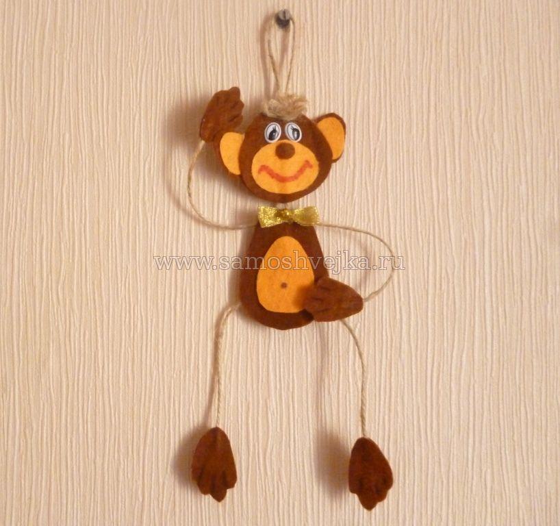 Игрушка на елку обезьянка своими руками