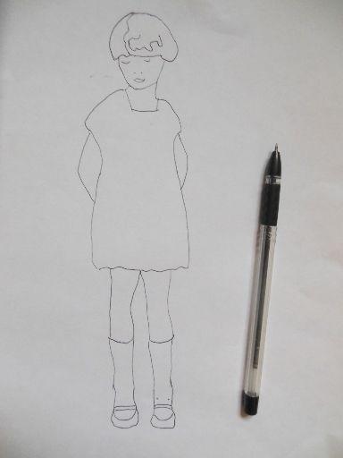 малюнок дівчинки