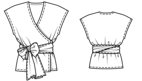 7d9c9cdbdba Шьем летнее платье-халат на запах по выкройке Burda - Самошвейка ...