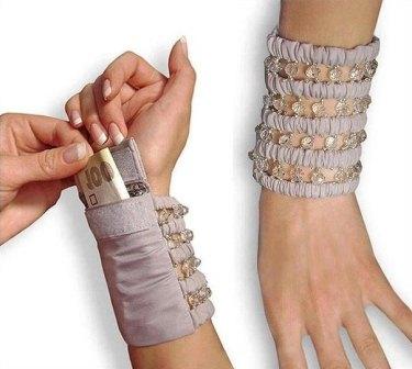 Как сшить браслет кошелек