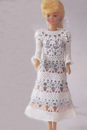 Вязаные платья кукол барби