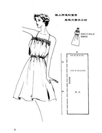 Фасоны платьев с чертежами