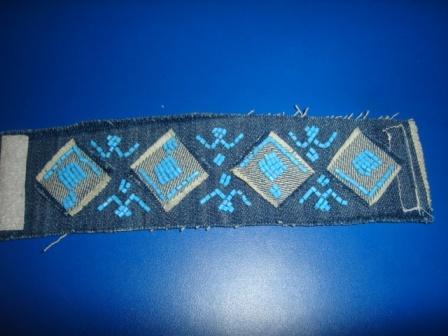 браслет из джинсовой ткани