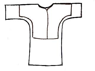 выкройка крестильной рубашки