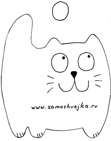 выкройка прихватка кот няшка