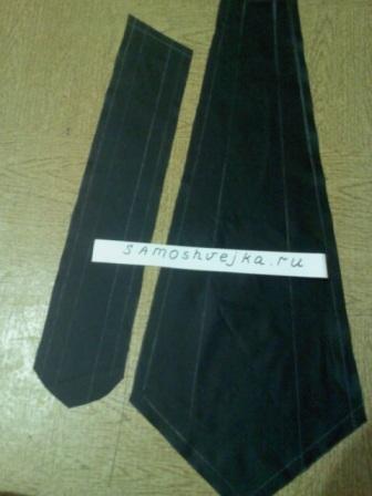 Как самостоятельно сшить галстук