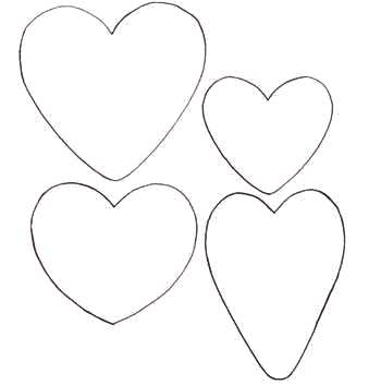 Выкройки сердец из ткани