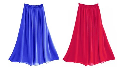 длинные юбки на резинке