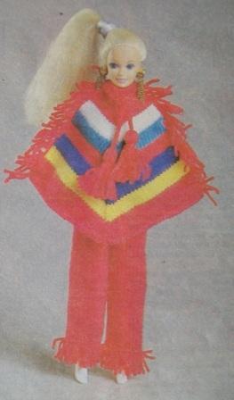 пончо для куклы