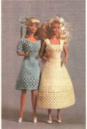 Вязаные крючком платья для