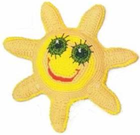 Вязаная игрушка Солнышко