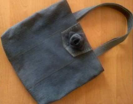 как пошить женскую сумочку из джинсов