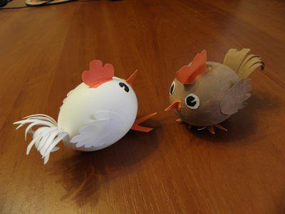 Технология 2 класс поделка из яйца попугай